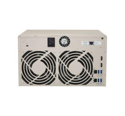 QNAP Turbo vNAS TVS-863 8 x Total Bays NAS Server - Tower Rear
