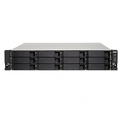 QNAP Turbo NAS TS-1263U 12 x Total Bays NAS Server - 2U - Rack-mountable FrontMaximum