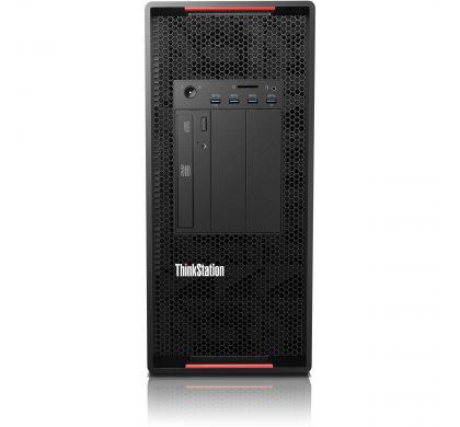 LENOVO ThinkStation P910 30B90000AU Workstation - 1 x Intel Xeon E5-2620 v4 Octa-core (8 Core) 2.10 GHz - Graphite Black FrontMaximum