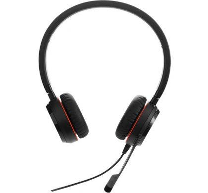 JABRA EVOLVE 30 II UC Stereo Wired Stereo Headset - Over-the-head - Supra-aural - Black FrontMaximum