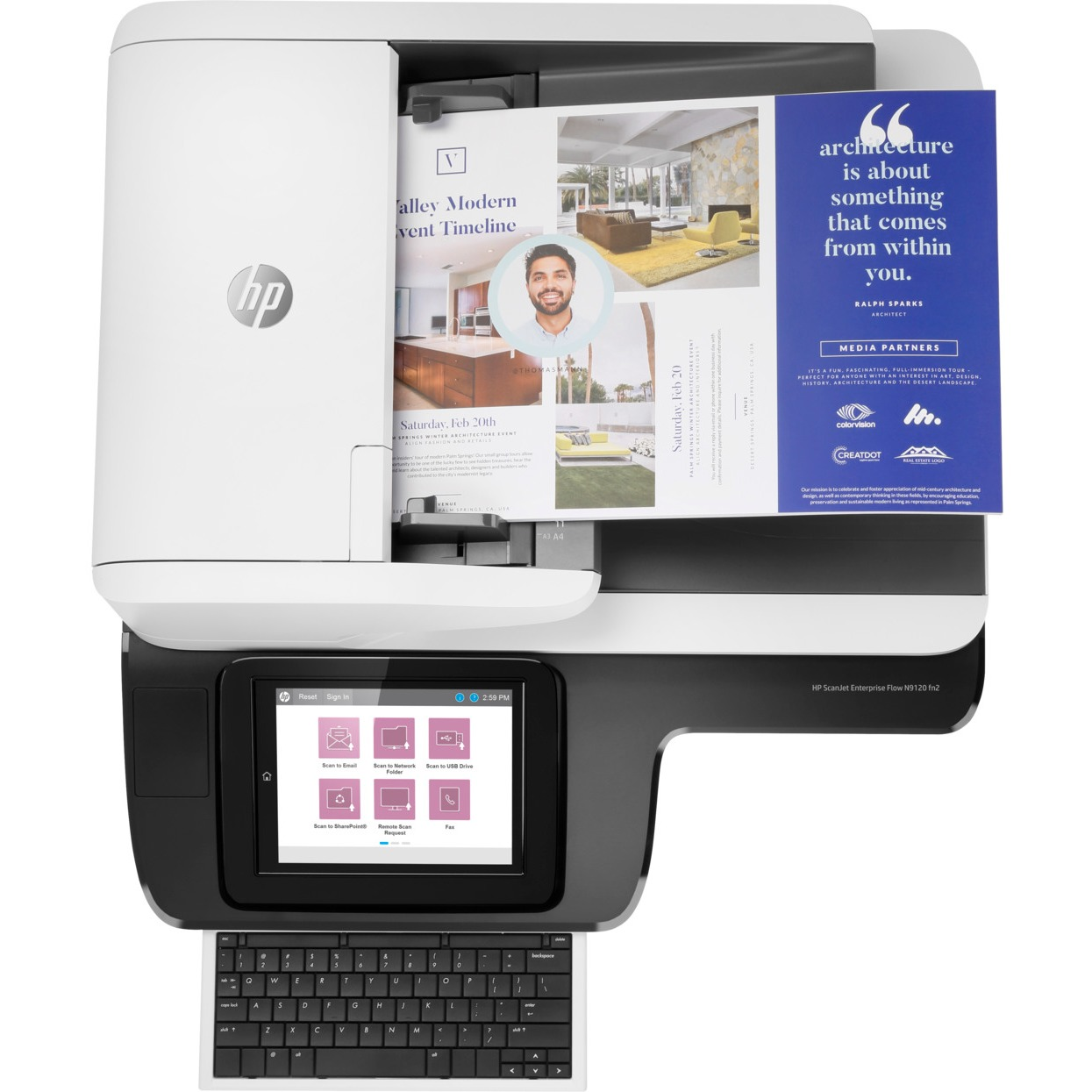 Printing Scanning Devices Scanners Hp Scanjet N9120 Sheetfed Scanner 600 Dpi Optical