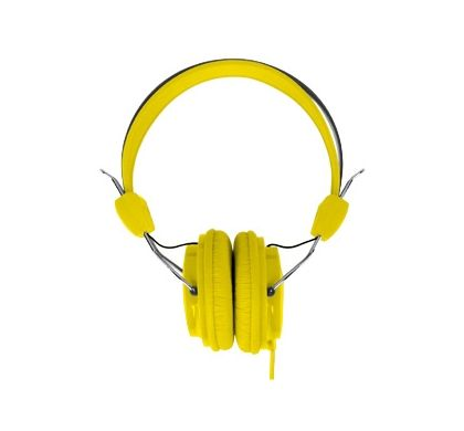 LASER Wired Stereo Headphone - Over-the-head - Ear-cup - Yellow Front