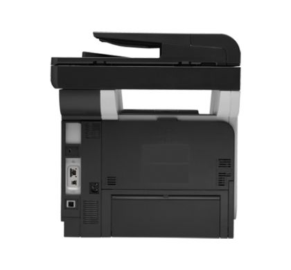 HP LaserJet Pro M521DN Laser Multifunction Printer - Monochrome - Plain Paper Print - Desktop Rear
