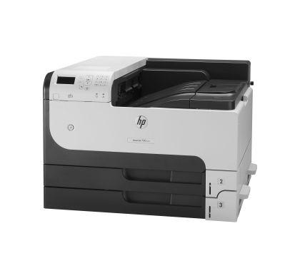 HP LaserJet 700 M712N Laser Printer - Monochrome - 1200 x 1200 dpi Print - Plain Paper Print - Desktop Left