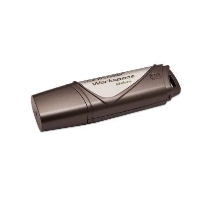 Kingston DataTraveler Workspace 64 GB USB 3.0 Flash Drive - 1 Pack Left