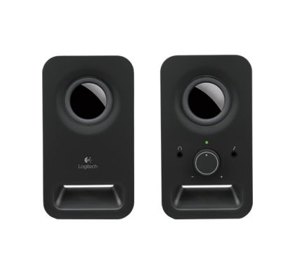 LOGITECH Z150 2.0 Speaker System - Midnight Black Front