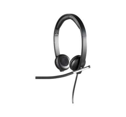 LOGITECH H650e Wired Stereo Headset - Over-the-head - Supra-aural Left