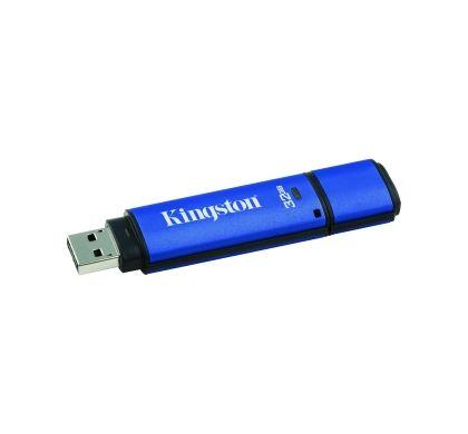 Kingston DataTraveler Vault 32 GB USB 3.0 Flash Drive Left