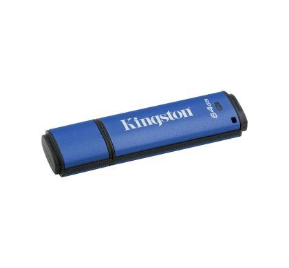 Kingston DataTraveler Vault 64 GB USB 3.0 Flash Drive Left