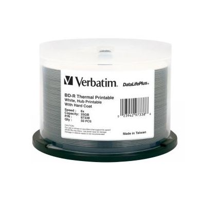 Verbatim DataLifePlus 97338 Blu-ray Recordable Media - BD-R - 6x - 25 GB - 50 Pack Spindle