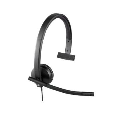LOGITECH H570e Wired Stereo Headset - Over-the-head - Supra-aural Right