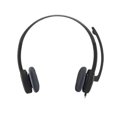LOGITECH H151 Wired Stereo Headset - Over-the-head - Supra-aural - Black Front