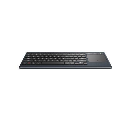 LOGITECH K830 Keyboard - Wireless Connectivity - Bluetooth Front