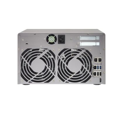 QNAP Turbo vNAS TVS-871 8 x Total Bays NAS Server - Tower Rear