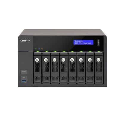 QNAP Turbo vNAS TVS-871 8 x Total Bays NAS Server - Tower Front