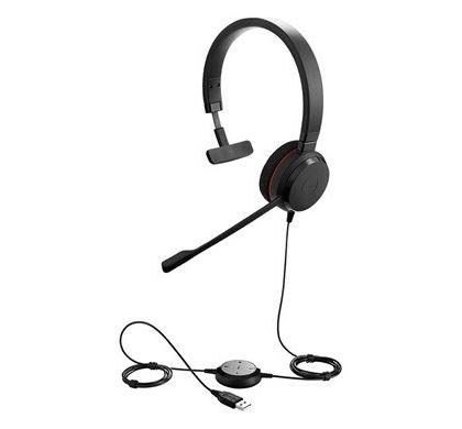 JABRA EVOLVE 20 Wired Mono Headset - Over-the-head - Supra-aural LeftMaximum