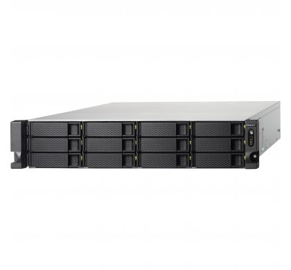 QNAP Turbo NAS TS-1263U 12 x Total Bays NAS Server - 2U - Rack-mountable LeftMaximum