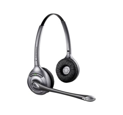 PLANTRONICS Savi WH350/A Wireless DECT Stereo Headset - Over-the-head - Semi-open - Black