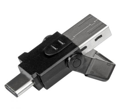 STARTECH .com Flash Reader - USB Type A, USB Type C - External - 1 Pack