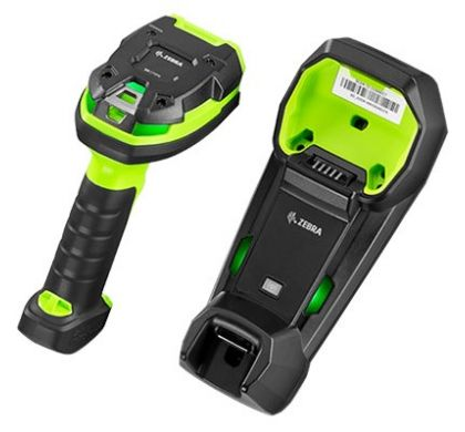 ZEBRA DS3608-SR Handheld Barcode Scanner - Cable Connectivity - Industrial Green RearMaximum