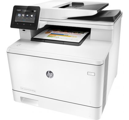 HP LaserJet Pro M477fdw Laser Multifunction Printer - Plain Paper Print LeftMaximum