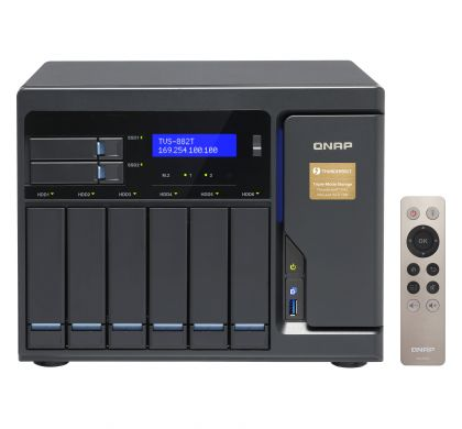 QNAP Turbo vNAS TVS-882T-I5-16G 8 x Total Bays SAN/NAS Server - Tower FrontMaximum