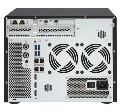 QNAP Turbo vNAS TVS-882T-I5-16G 8 x Total Bays SAN/NAS Server - Tower RearMaximum