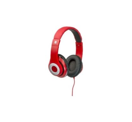 VERBATIM Classic Wired 40 mm Stereo Headset - Over-the-head - Circumaural - Red