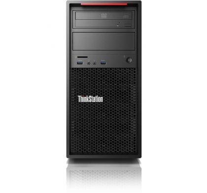 LENOVO ThinkStation P410 30B30015AU Workstation - 1 x Intel Xeon E5-1607 v4 Quad-core (4 Core) 3.10 GHz - Graphite Black FrontMaximum