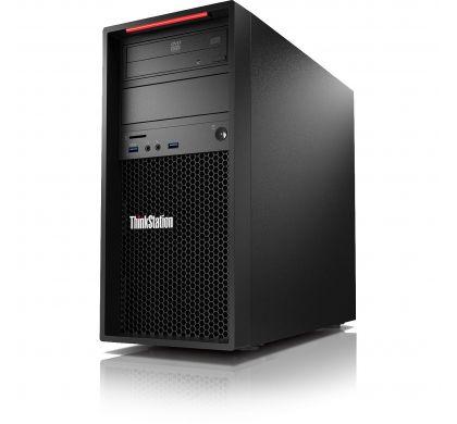LENOVO ThinkStation P410 30B30015AU Workstation - 1 x Intel Xeon E5-1607 v4 Quad-core (4 Core) 3.10 GHz - Graphite Black LeftMaximum