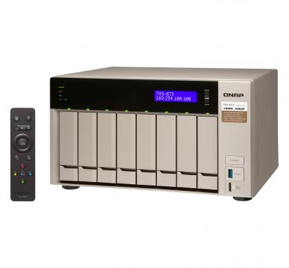 QNAP Turbo vNAS TVS-873 8 x Total Bays SAN/NAS Server - Tower
