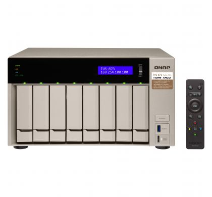 QNAP Turbo vNAS TVS-873 8 x Total Bays SAN/NAS Server - Tower FrontMaximum