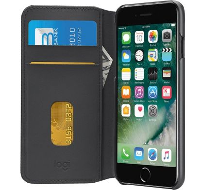 LOGITECH Hinge Carrying Case (Wallet) for iPhone 7 Plus - Black RightMaximum