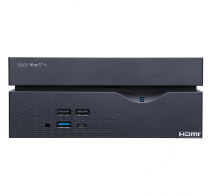 ASUS VivoMini VC66-I5M8S256W10 Desktop Computer - Intel Core i5 (7th Gen) i5-7400 3.50 GHz - 8 GB DDR4 SDRAM - 256 GB SSD - Windows 10 Home 64-bit - Mini PC - Black FrontMaximum