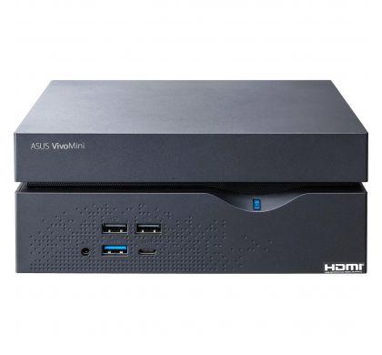 ASUS VivoMini VC66-I7M8S256W10 Desktop Computer - Intel Core i7 (7th Gen) i7-7700 3.60 GHz - 8 GB DDR4 SDRAM - 256 GB SSD - Windows 10 Home 64-bit - Mini PC - Black TopMaximum
