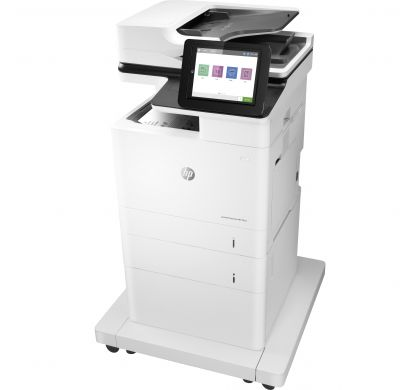 HP LaserJet M632fht Laser Multifunction Printer - Monochrome - Plain Paper Print - Desktop LeftMaximum