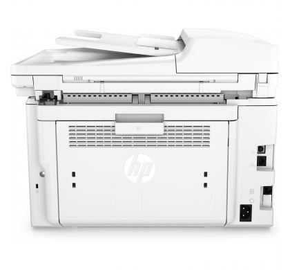 HP LaserJet Pro M227 M227fdn Laser Multifunction Printer - Monochrome - Plain Paper Print - Desktop RearMaximum