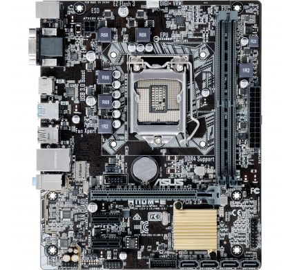 ASUS H110M-E Desktop Motherboard - Intel Chipset - Socket H4 LGA-1151