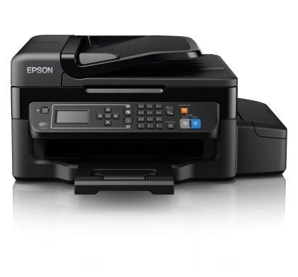 EPSON WorkForce ET-4500 Inkjet Multifunction Printer - Colour - Plain Paper Print - Desktop FrontMaximum
