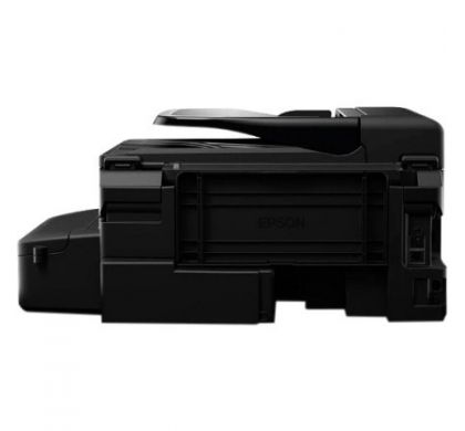 EPSON WorkForce ET-4500 Inkjet Multifunction Printer - Colour - Plain Paper Print - Desktop RearMaximum