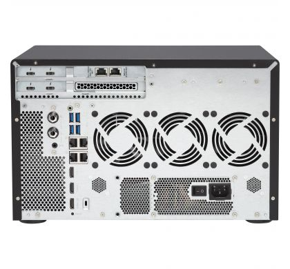 QNAP Turbo vNAS TVS-1282T3 12 x Total Bays SAN/NAS/DAS Storage System - Tower RearMaximum