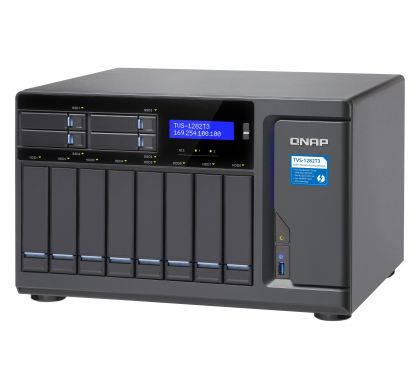 QNAP Turbo vNAS TVS-1282T3 12 x Total Bays SAN/NAS/DAS Storage System - Tower