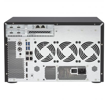 QNAP Turbo vNAS TVS-1282T3 12 x Total Bays SAN/NAS/DAS Storage System - Tower RearMaximum