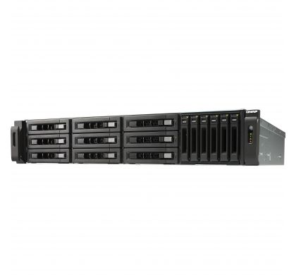 QNAP Turbo vNAS TVS-1582TU 15 x Total Bays SAN/NAS Storage System - 2U - Rack-mountable LeftMaximum