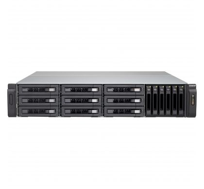 QNAP Turbo vNAS TVS-1582TU 15 x Total Bays SAN/NAS Storage System - 2U - Rack-mountable FrontMaximum