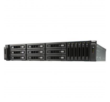 QNAP Turbo vNAS TVS-1582TU 15 x Total Bays SAN/NAS Storage System - 2U - Rack-mountable LeftMaximum
