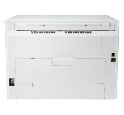HP LaserJet Pro M180n Laser Multifunction Printer - Colour - Plain Paper Print - Desktop RearMaximum