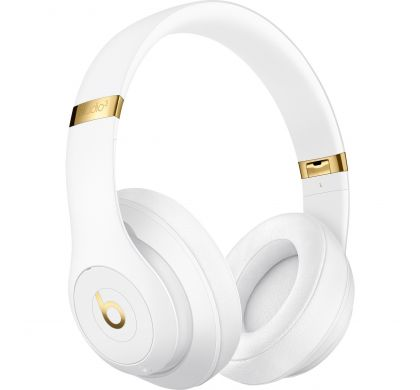 APPLE Studio3 Wired/Wireless Bluetooth Stereo Headset - Over-the-head - Circumaural - White