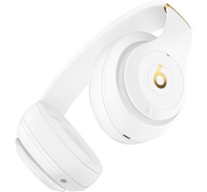 APPLE Studio3 Wired/Wireless Bluetooth Stereo Headset - Over-the-head - Circumaural - White BottomMaximum