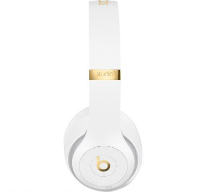 APPLE Studio3 Wired/Wireless Bluetooth Stereo Headset - Over-the-head - Circumaural - White RightMaximum